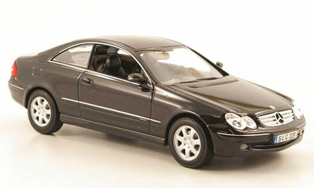 Mercedes Classe CLK 1/43 Minichamps (C209) noire 2001 miniature