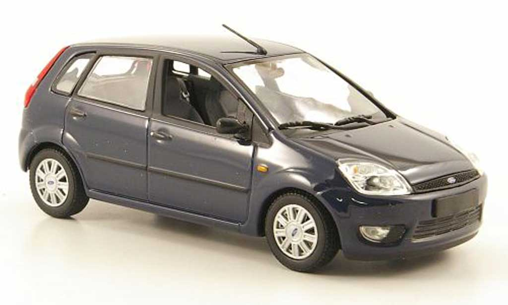 ford fiesta 2002 blue minichamps diecast model car 1 43. Black Bedroom Furniture Sets. Home Design Ideas