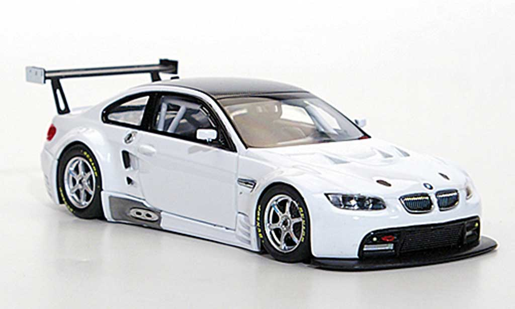 Bmw M3 E92 1/43 Minichamps GT2 white 2009 diecast model cars
