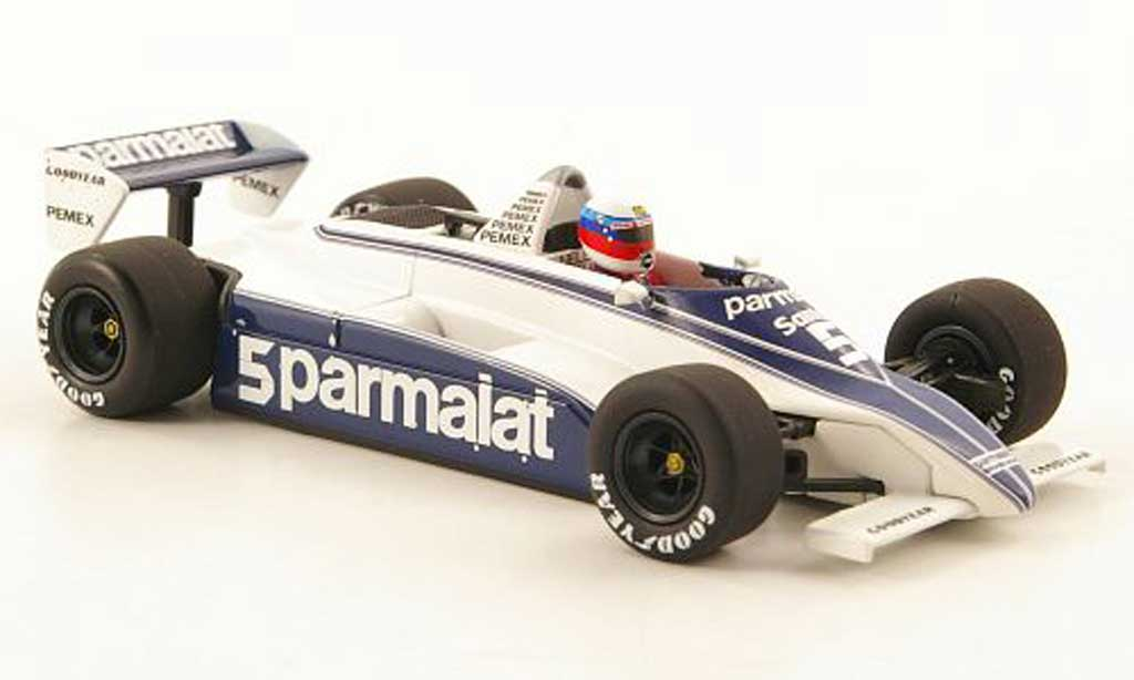 Ford F1 1981 1/43 Minichamps Brabham BT49C No.5 Parmalat Test Paul Ricard miniature