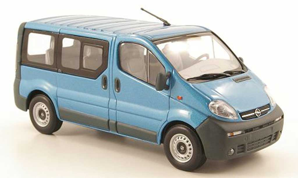 Opel Vivaro 1/43 Minichamps Break bleu 2001 miniature