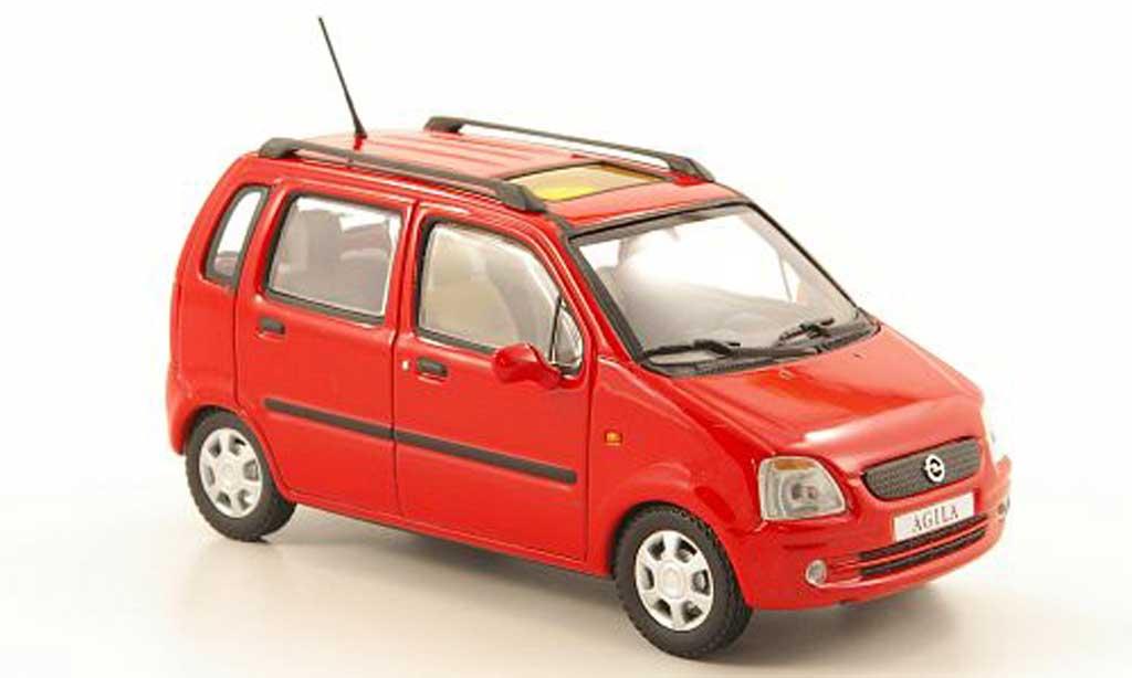 Opel Agila 1/43 Minichamps rouge  2000