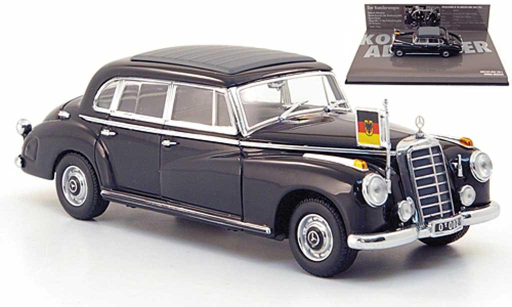 Mercedes 300 B 1/43 Minichamps (W186III) Konrad Adenauer noire  1955 miniature