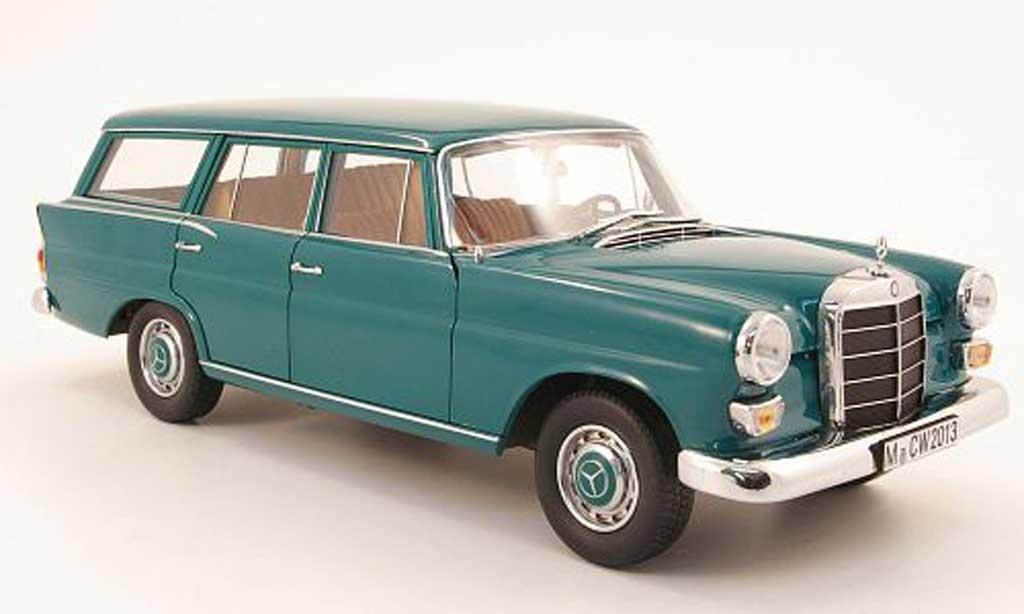 Mercedes 200 1/18 Norev universal (w110) grun 1968 miniature