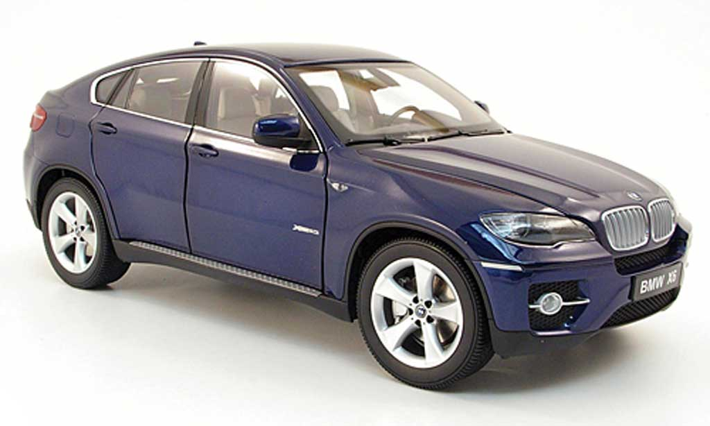 bmw x6 e71 miniature xdrive 50i bleu kyosho 1 18 voiture. Black Bedroom Furniture Sets. Home Design Ideas