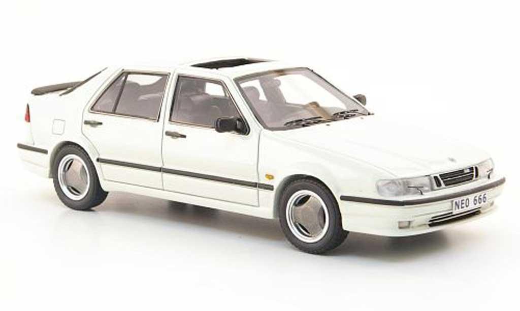 Saab 9000 CS 1/43 Neo aerien blanche 1985 miniature