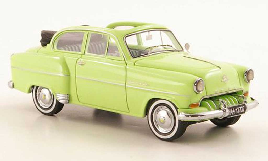 Opel Olympia 1/43 Neo Cabrio-Limousine grun 1954 miniature