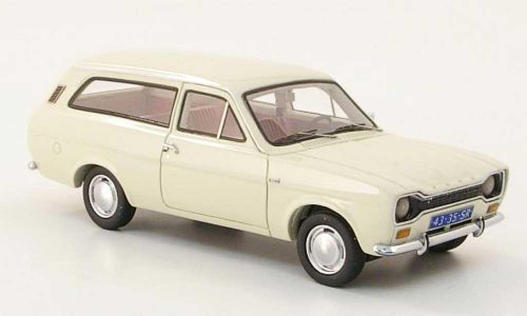 Ford Escort MK1 1/43 Neo 1300 L Turnier blanche 1971 miniature