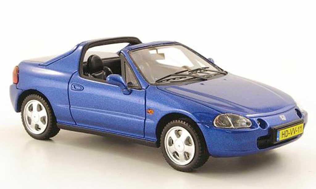 Honda CRX del Sol 1/43 Neo del Sol bleu 1992 miniature