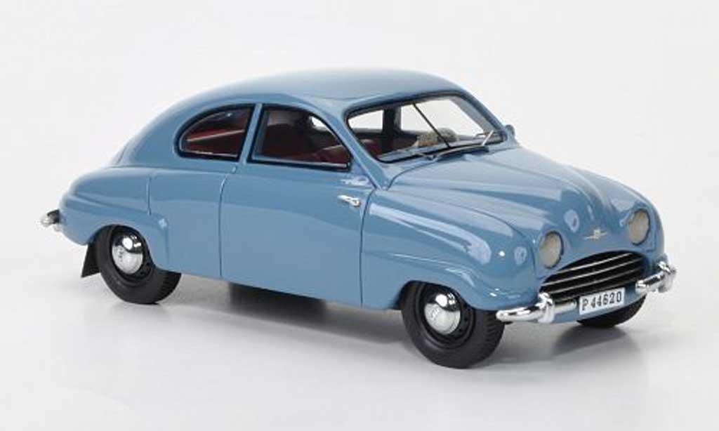 Saab 92B 1/43 Neo gris-bleu 1952 miniature