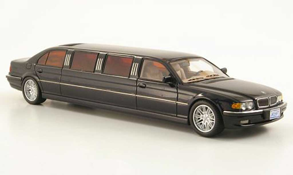 Bmw 750 E38 1/43 Neo i Stretch Limousine bleu miniature