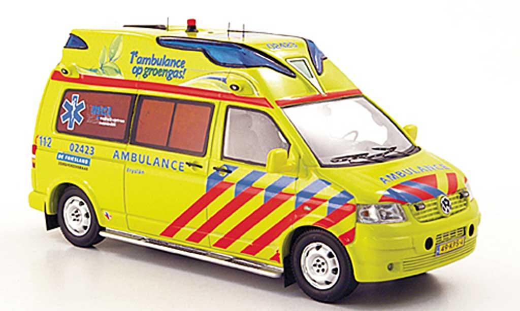 Volkswagen T5 1/43 Neo Hornis Silver KTW Kijlstra Ambulancegroep Fryslan 2010 miniature