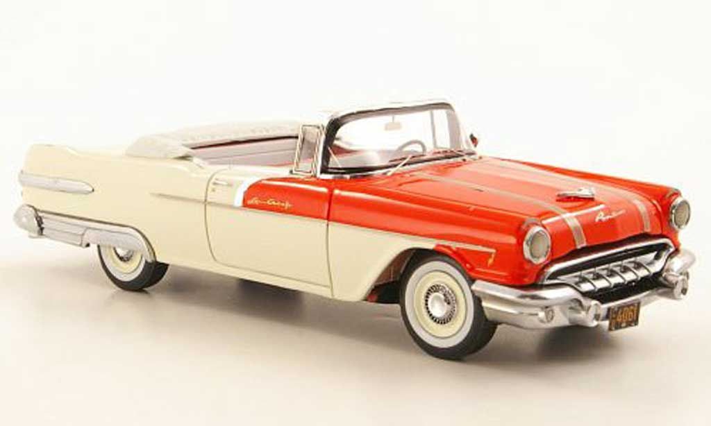 Pontiac Star Chief 1/43 Neo Convertible rouge/blanche 1956 miniature