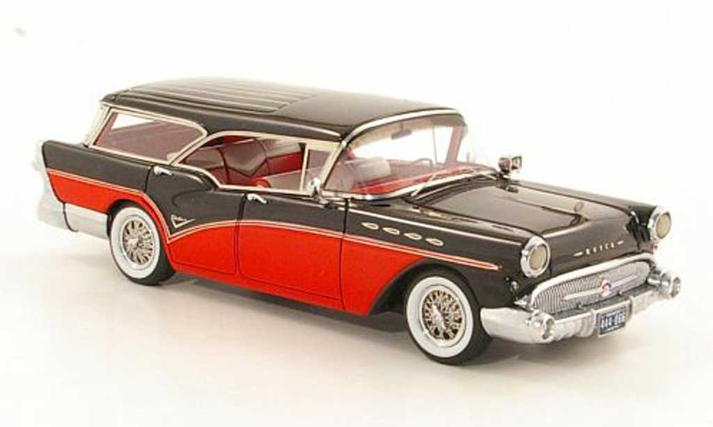Buick Century 1/43 Neo Caballero Estate rouge/noire 1957 miniature