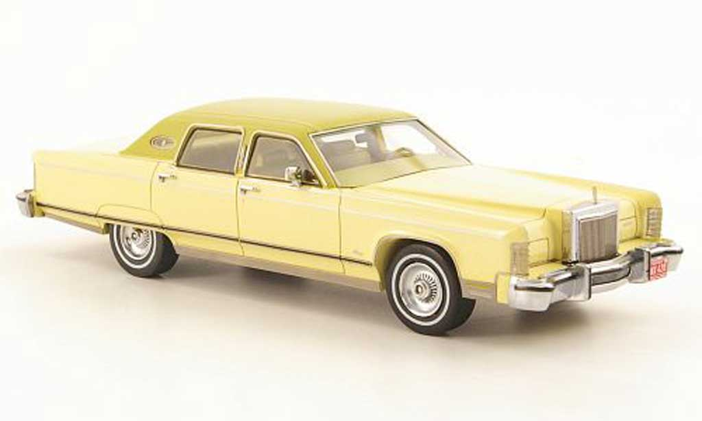 Lincoln Continental 1977 1/43 Neo jaune/verte miniature