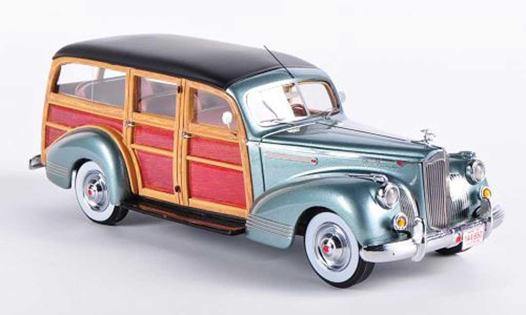 Packard 110 1/43 Neo Deluxe Wagon grisegrun/Holzoptik 1941 miniature
