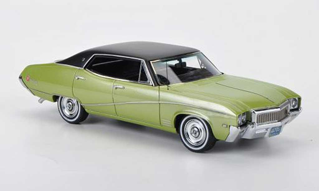 Buick Skylark 1/43 Neo Sedan grun/mattnoire 1968 miniature