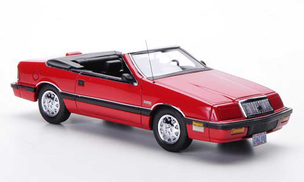 Chrysler Le Baron 1990 1/43 Neo 1990 Convertible rouge miniature