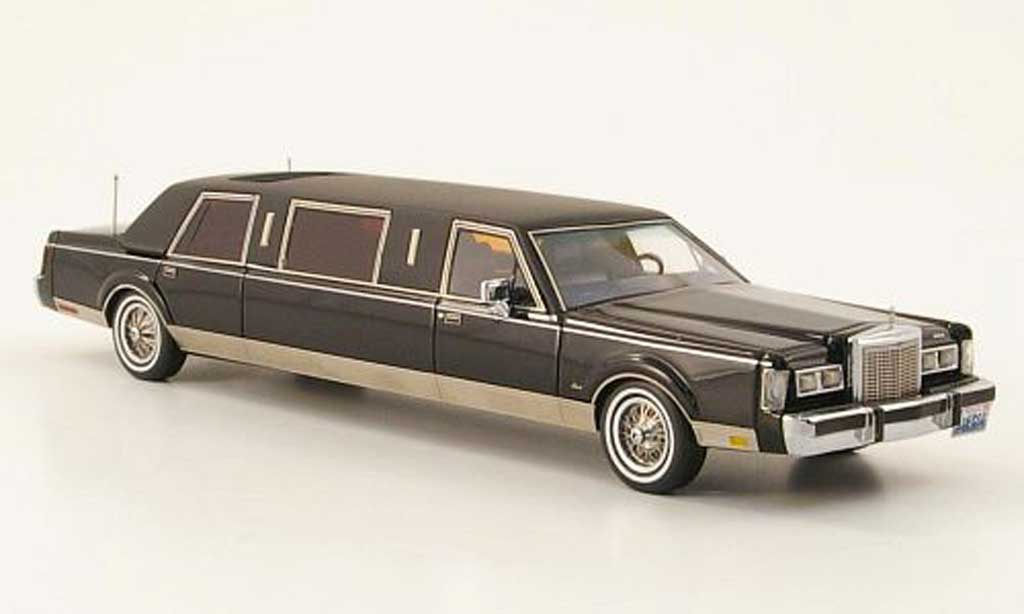 lincoln town car 1985 formal stretch limousine schwarz mattschwarz 1985 neo modellauto 1 43. Black Bedroom Furniture Sets. Home Design Ideas