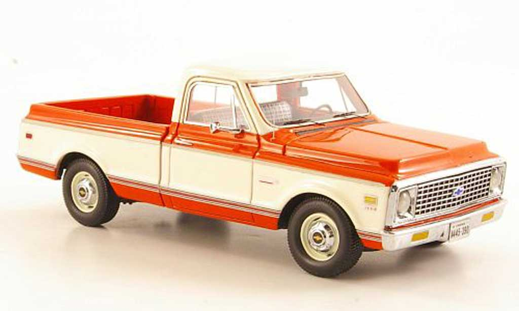 Chevrolet C-10 1/43 Neo orange/blanche 1971 miniature