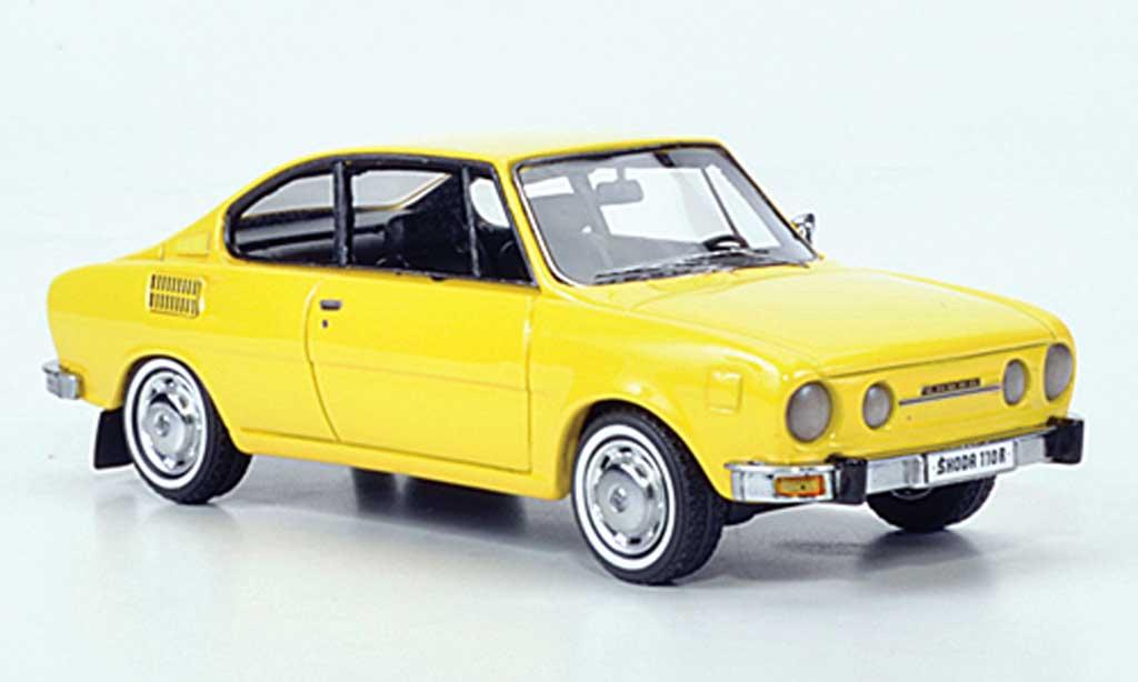 Skoda 110 1/43 Neo Coupe jaune 1972 miniature
