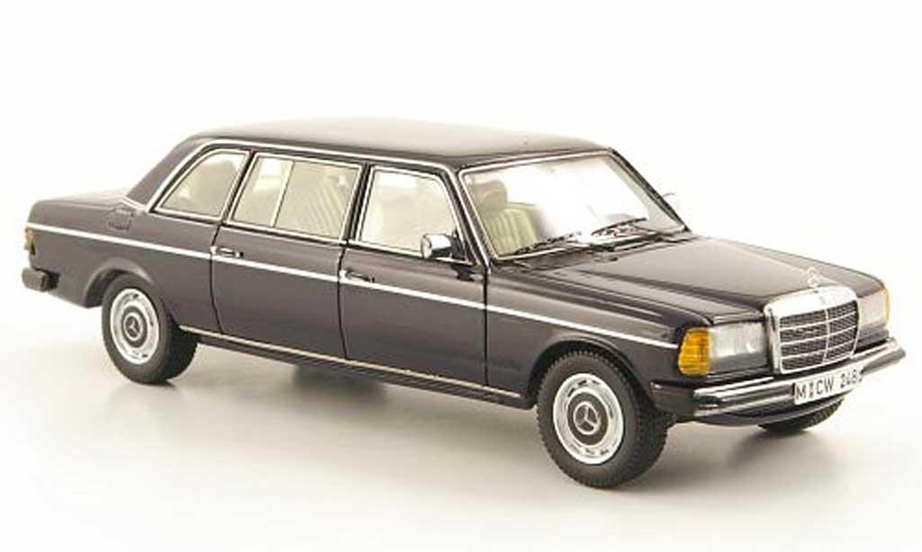 Mercedes 240 1/43 Neo D Lang (V123) bleu W123-Langversion limited edition 1978 miniature