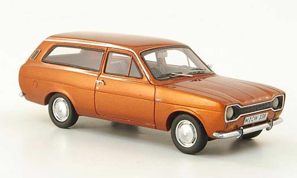 Ford Escort MK1 1/43 Neo 1300 L Turnier marron limited edition 1971 miniature