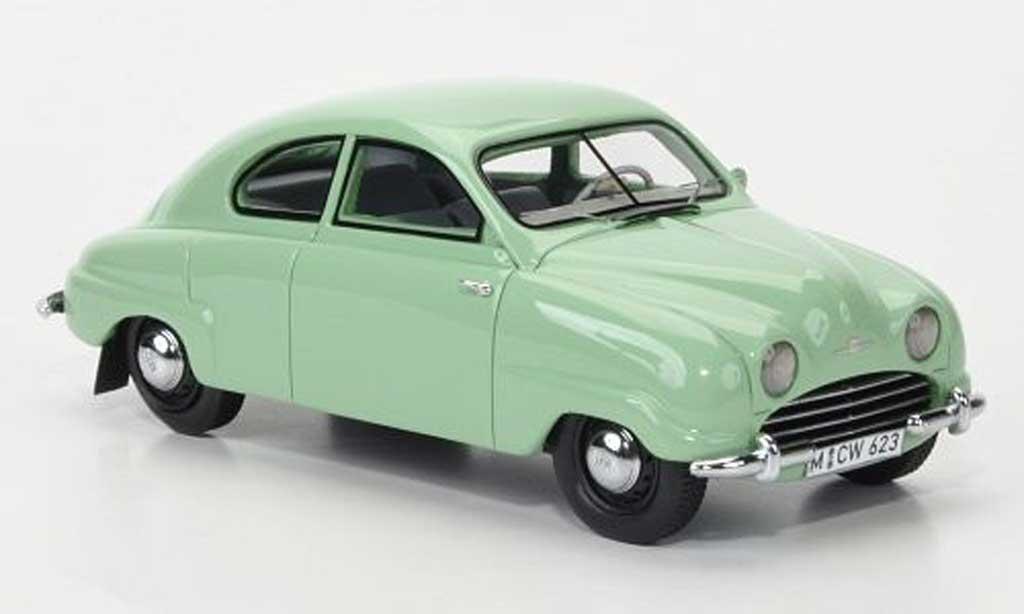 Saab 92B 1/43 Neo verte limited edition 1952 miniature