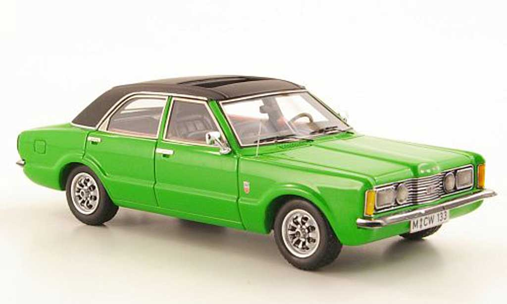 Ford Taunus 1973 1/43 Neo GXL verte/noire 4-portes limited edition miniature