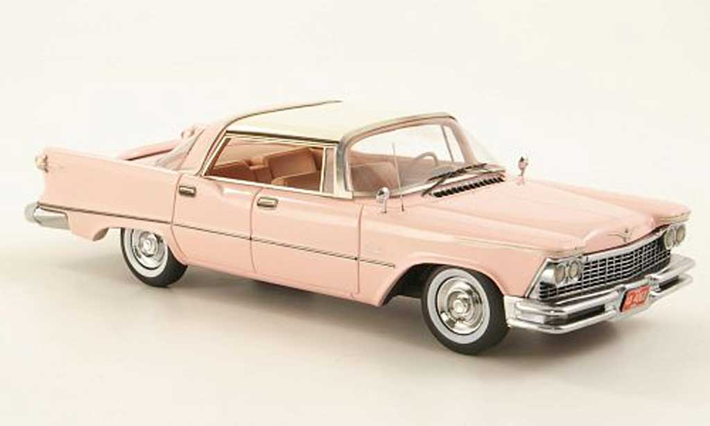 Imperial Crown Southampton 1/43 American Excellence 4-portes HardTop pink/blanche limited edition 1957 miniature