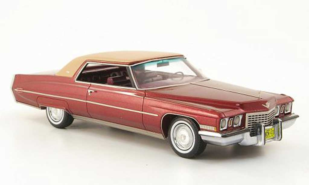 Cadillac Deville 1972 1/43 American Excellence 1972 Coupe rouge/marron limited edition miniature