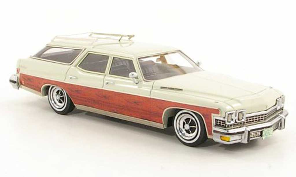 Buick Le Sabre 1/43 American Excellence Estate Wagon beige/Holz limited edition 1974 miniature