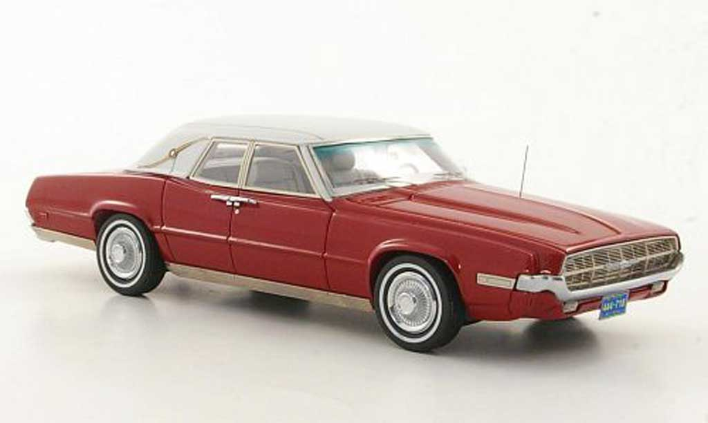Ford Thunderbird 1969 1/43 American Excellence Landau rouge/blanche limited edition miniature