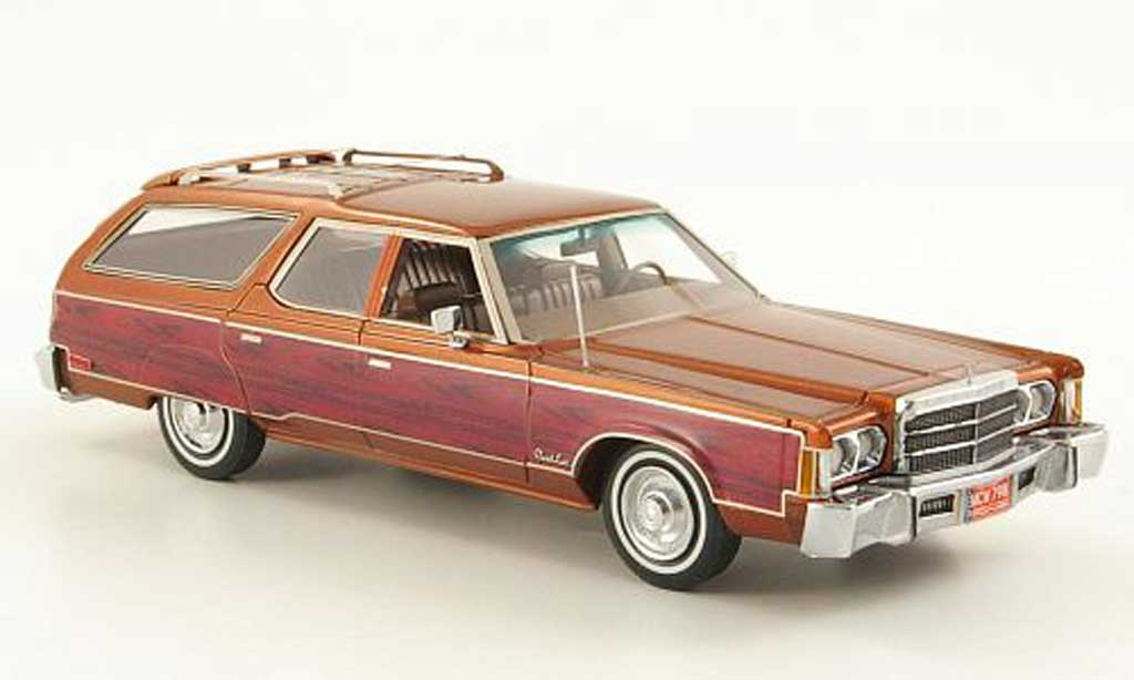 Chrysler Town & Country 1/43 American Excellence kupfer/Holzoptik limited edition 1976 miniature