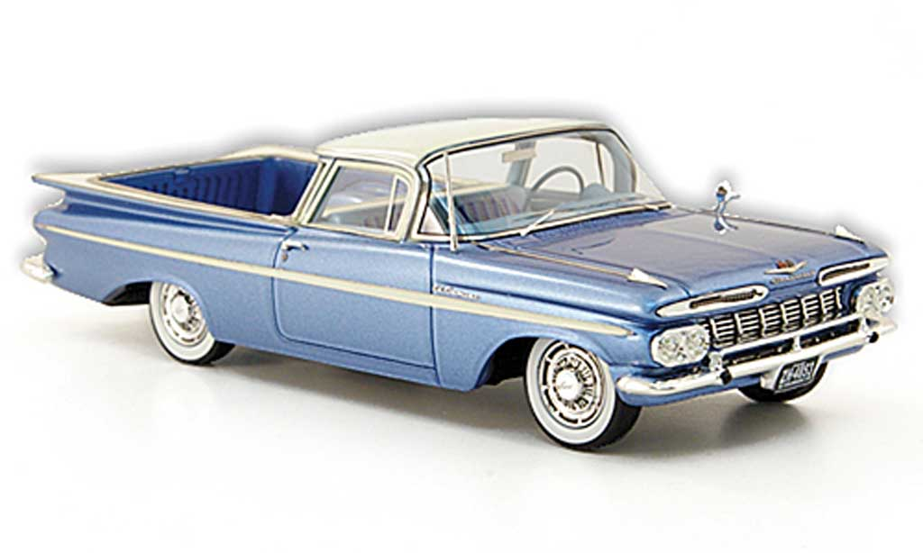Chevrolet El Camino 1/43 American Excellence bleu/white limited edition 1959 diecast model cars