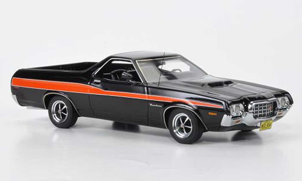 Ford Ranchero 1/43 American Excellence GT noire/orange limited edition 1972 miniature