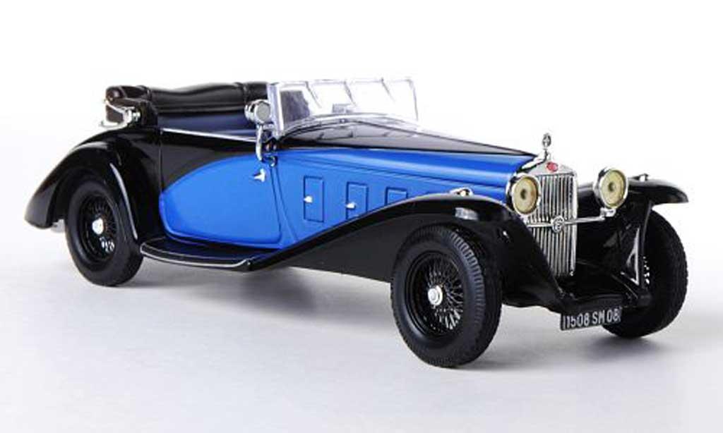 Delage D8SS 1/43 IXO Fernadez & Darrin noire/bleu 1932 miniature