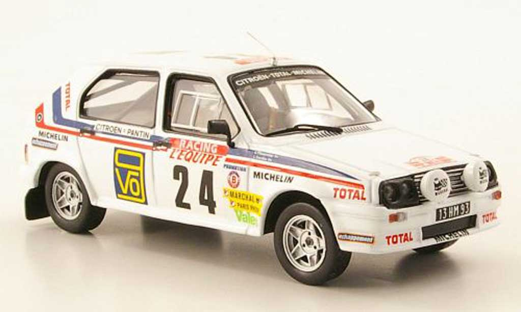 Citroen Visa 1/43 IXO Chrono No.24 Tour de Corse 1983 miniature