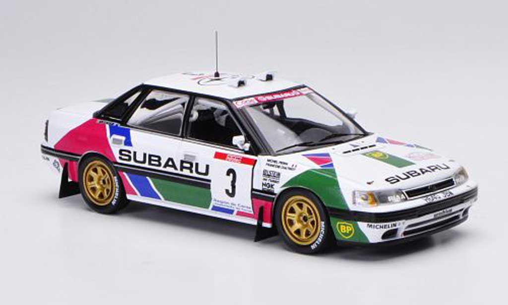 Subaru Legacy RS 1991 1/43 IXO No.3 F.Chatriot / M.Perin Tour de Corse miniature