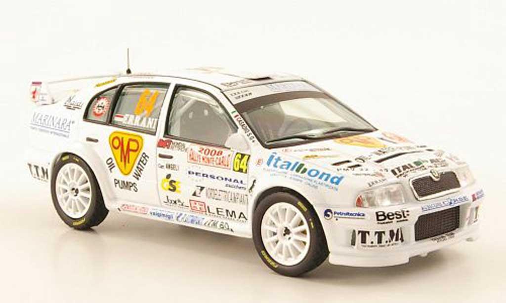 Skoda Octavia 1/43 IXO WRC No.64 Rally Monte Carlo 2008 miniature