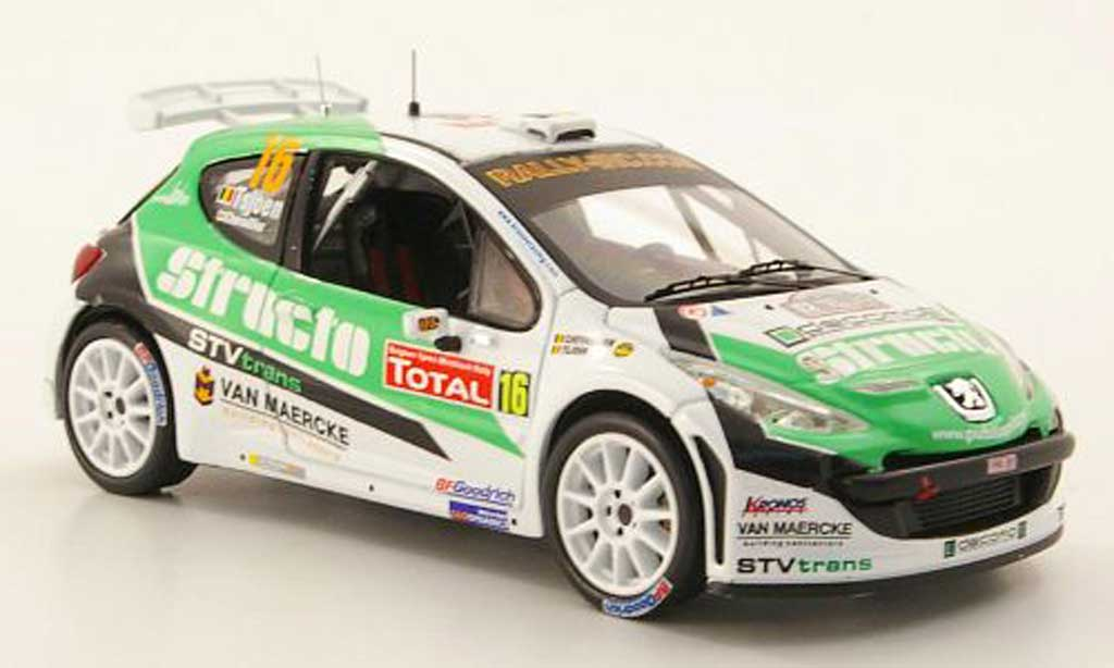 Peugeot 207 S2000 1/43 IXO No.16 Structo IRC Rally Ypern 2009 miniature