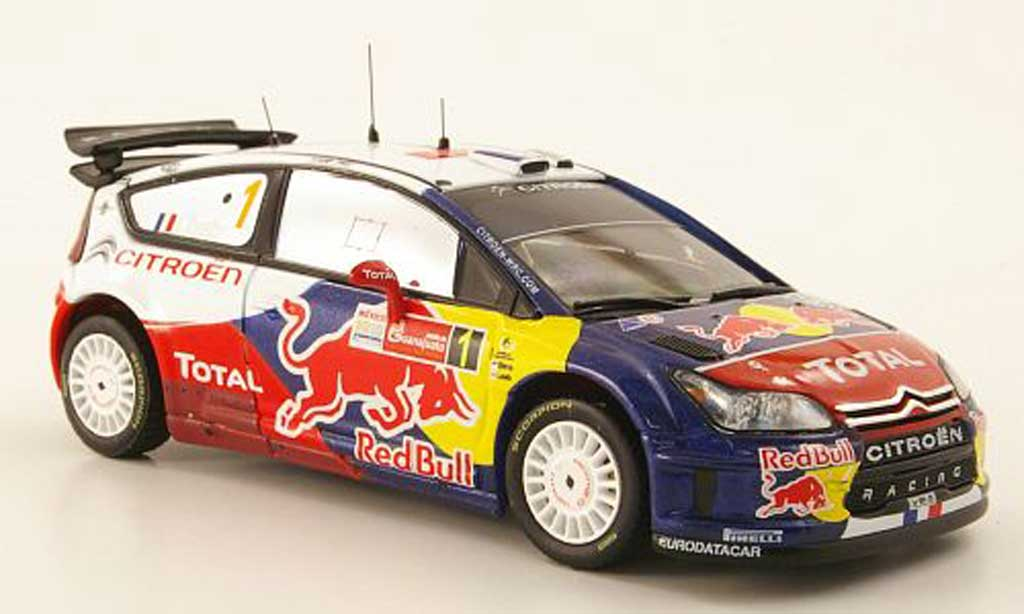 Citroen C4 WRC 2010 1/43 IXO No.1 Red Bull Rally Mexiko miniature