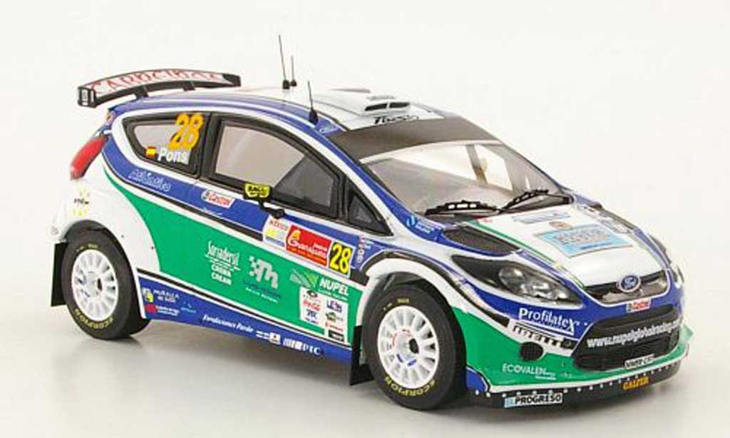 Ford Fiesta S2000 1/43 IXO No.28 X.Pons / A.Haro Rally Mexiko 2010 miniature