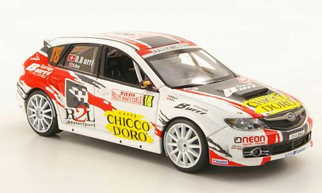 Subaru Impreza WRX 1/43 IXO STI No.18 Chicco Doro Rally Monte Carlo 2010 miniature