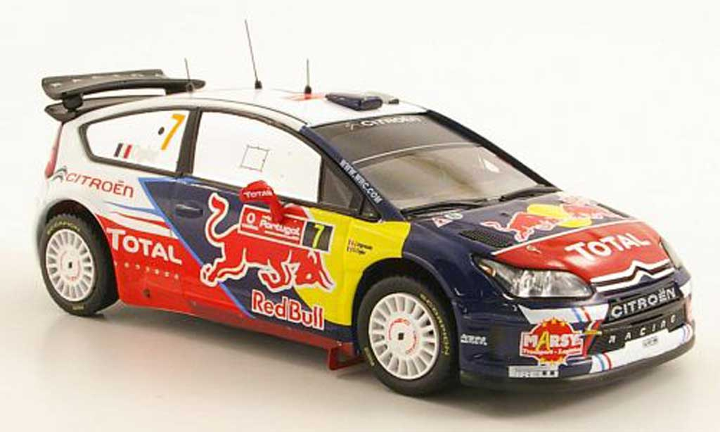 Citroen C4 WRC 2010 1/43 IXO No.7 Total / Red Bull Rally Portugal miniature
