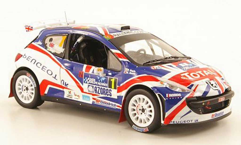 Peugeot 207 S2000 1/43 IXO No.1 Total IRC Azoren Rally 2010 miniature