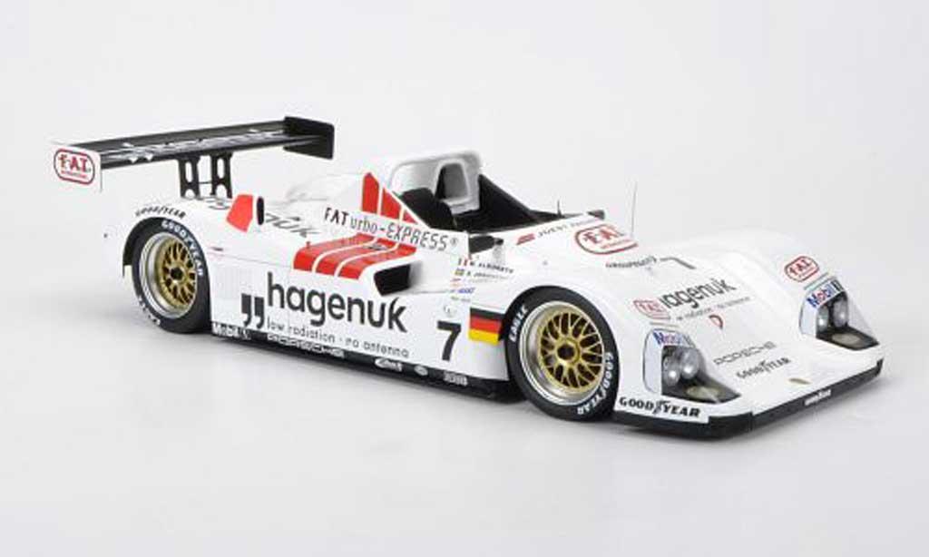 Porsche TWR 1/18 Spark Joest WSC 95 No.7 Hagenuk M.Alboreto / S.Johansson / T.Kristensen 24h Le Mans 1997 diecast model cars