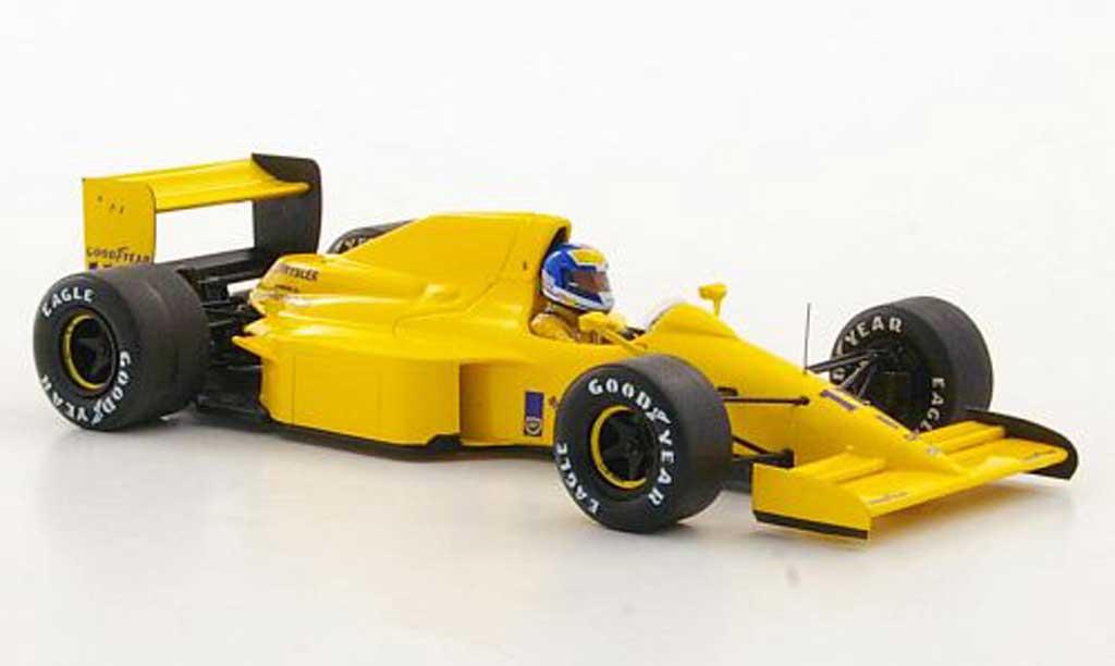 Lotus F1 1990 1/43 Spark 102 No.11 Camel D.Warwick GP Belgien miniature