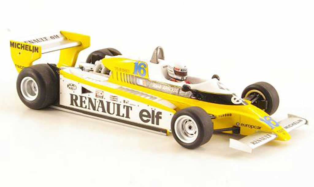 Renault F1 1980 1/43 Spark RE20 No.16 R.Arnoux GP Brasilien miniature
