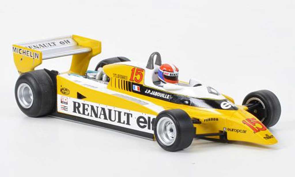 Renault F1 1980 1/43 Spark RE20 No.15 J-P.Jabouille GP Osterreich miniature